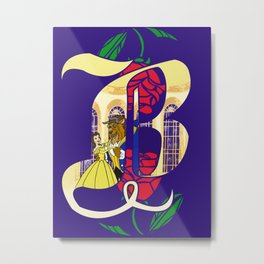 B is for Beauty and the Beast Metal Print
