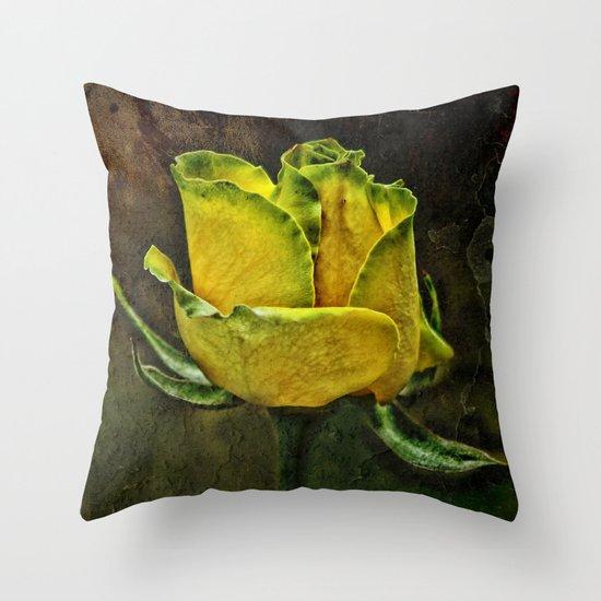 Rose Of Yellow Throw Pillow