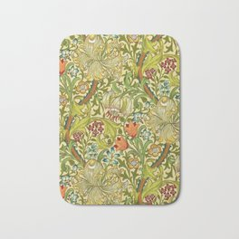William Morris Calla Lilies, Tulips, Daffodils, & Red Poppies Textile Print Bath Mat