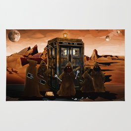 The jawas find sparepart from tardis iPhone 4 4s 5 5c 6, pillow case, mugs and tshirt Rug