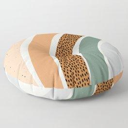 Patterned Rainbow Floor Pillow