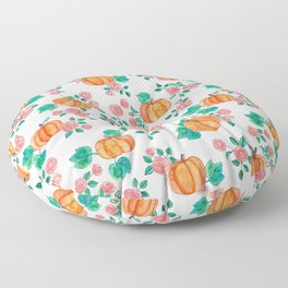 Pumpkins and Roses Floor Pillow