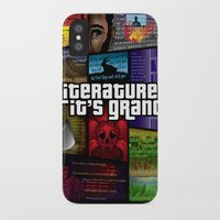 literature iPhone & iPod Cases featuring Grand Theft Literature by Mitul Mistry