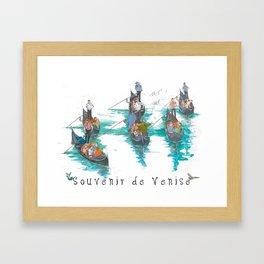 """Venice """"Gondola serenade"""" Framed Art Print"""