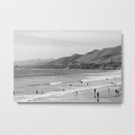 Sad Beach Reality Metal Print