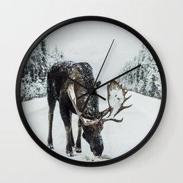 moose #society6 #decor #buyart Wall Clock
