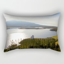 Watercolor Landscape, Pingvallavatn 01, Iceland Rectangular Pillow