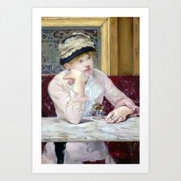 Edouard Manet Plum Brandy Art Print