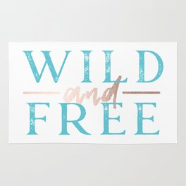 Wild and Free Turquoise Rose Gold Rug