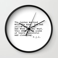 Typewriter Thoughts #3 - The Leaves Wall Clock