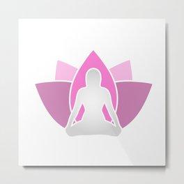 Holistic healing through yoga and meditation Metal Print