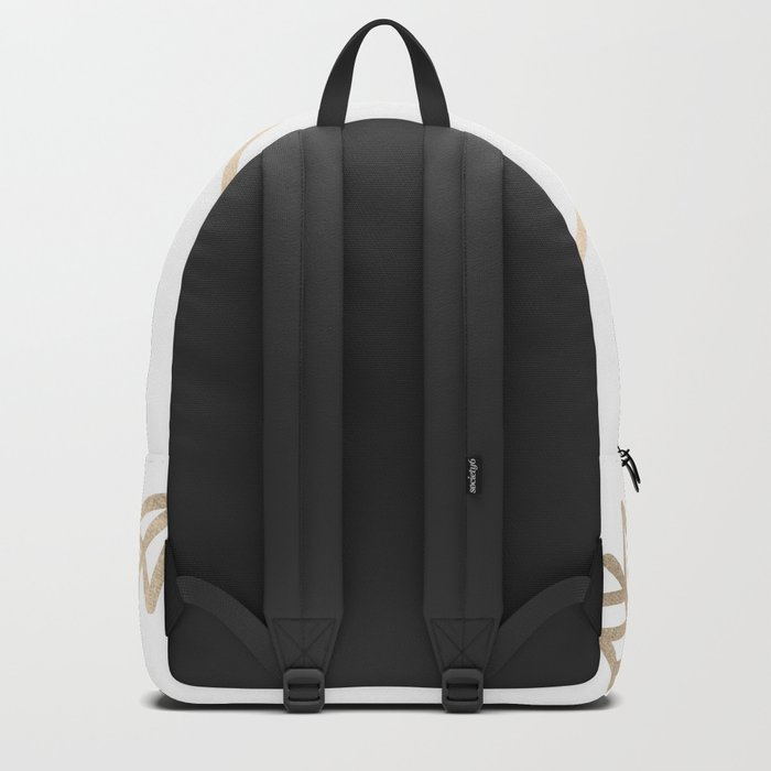 Adventure White Gold Arrows Backpack