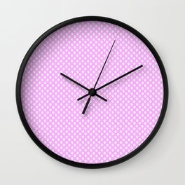 Tiny Paw Prints Pretty Pink Pattern Wall Clock