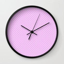 Tiny Paw Prints Pretty Pink Pattern Wall Clock