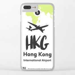 HKG HONG KONG airport Clear iPhone Case