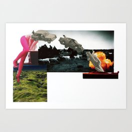 Crash and Burn Art Print