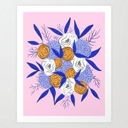 Autumn floral bouquet Art Print
