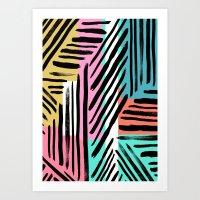 90's Stripes Art Print