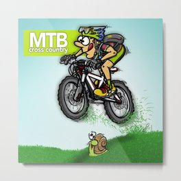 MTB cross country Metal Print