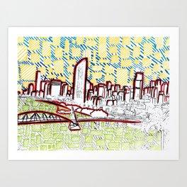 BRISBANE POSTCARD SERIES 022 Art Print