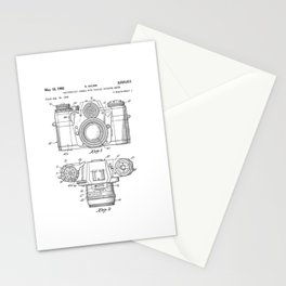 Camera Patent Drawing Stationery Cards