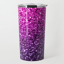 Purple Pink Ombre glitter sparkles Travel Mug