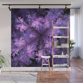 Purple crystals Wall Mural