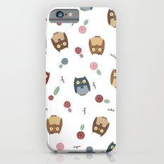 Owls with flowers Slim Case iPhone 6s