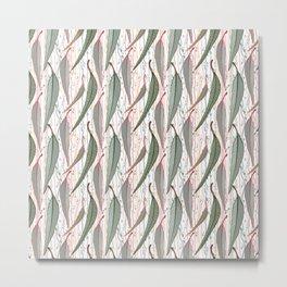 Bush Eucalyptus Pattern Metal Print