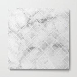 Etched Marble Metal Print
