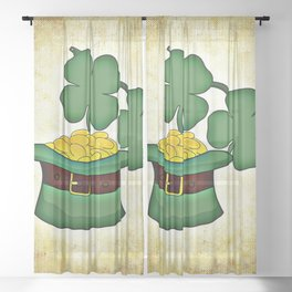 irish st-patricks day ireland Sheer Curtain