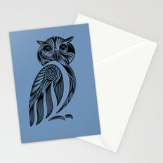 Tribal Owl Stationery Cards
