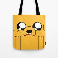 jake Tote Bags featuring Adventure - Jake by Alessandro Aru