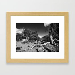 The Loch, Rocky Mountain national park Framed Art Print