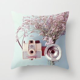 Scout camera & lavender Throw Pillow