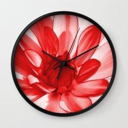 Dahlia red 201 Wall Clock