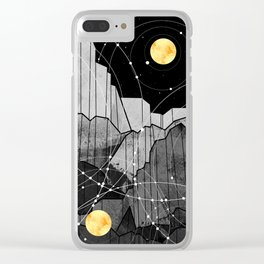 Astronomy mountains Clear iPhone Case