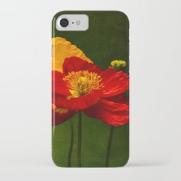 Red and Yellow poppies iPhone Case
