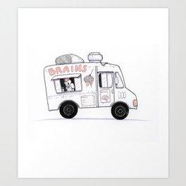 Zombie Food Truck Art Print