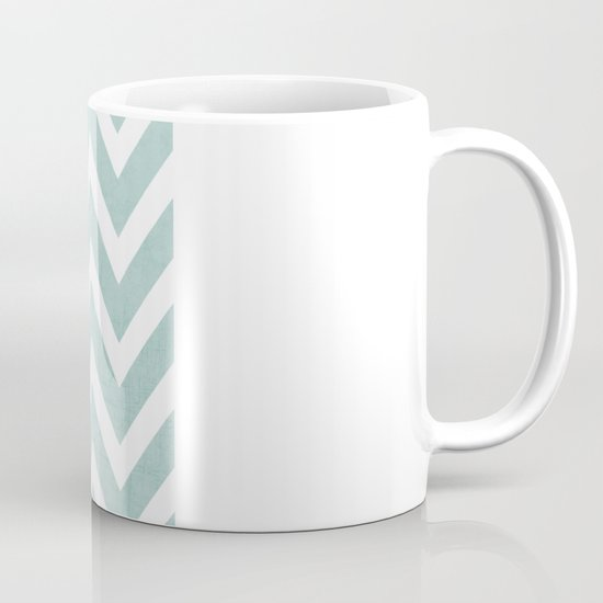 robins egg blue chevron Mug