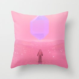 Lost Astronaut Series #03 - Floating Crystal Throw Pillow