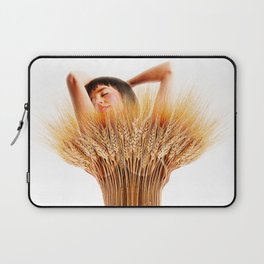 Woman And Wheat Laptop Sleeve