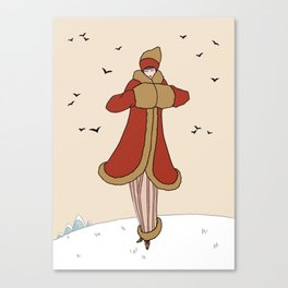Art Deco Lady: BERNADETTE in Red and Gold Canvas Print