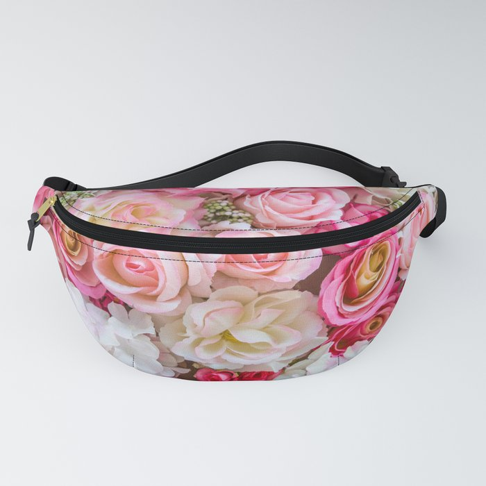 Pink & Red Roses Fanny Pack