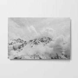 Nepal Mountains Landscape Himalayas Photo Print Metal Print