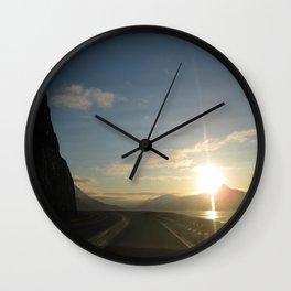 Seward Hwy Alaska Wall Clock