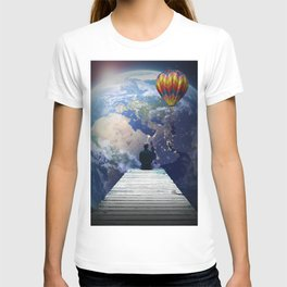 Playing from the moon T-shirt