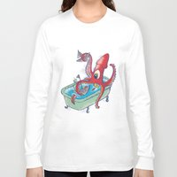 kraken Long Sleeve T-shirts featuring kraken by Caramela