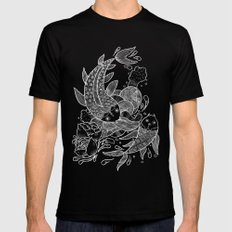 The Koi Fishes Mens Fitted Tee Black MEDIUM