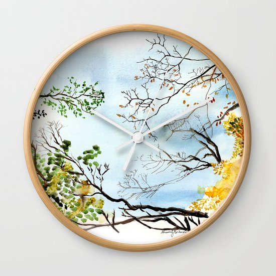 the only way out is up Wall Clock